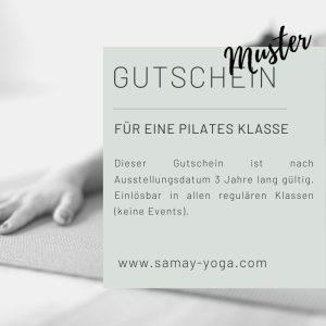 Gutschein Pilates Klasse